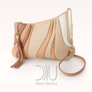Designer Over Shoulder Bags. Sputnik Beige by Diana Ulanova. Buy on women-bags.com