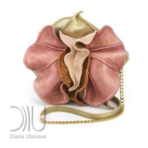 Mini Designer Handbags. Orchid Mini Gold/Pink by Diana Ulanova. Buy on women-bags.com