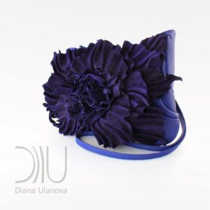Clutch Bag Designer Sale. Peony Clutch Dark Blue by Diana Ulanova. Buy on women-bags.com