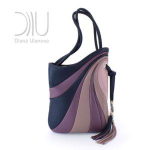 Designer Shoulder Bags For Women. Sputnik Maxi Blue/Beige by Diana Ulanova. Buy on women-bags.com