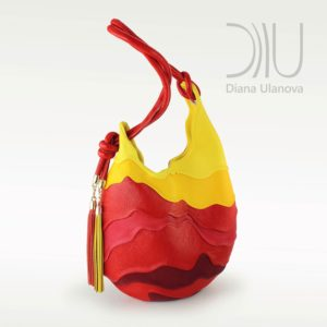 Designer Over The Shoulder Bags. Hive Red/Yellow by Diana Ulanova. Buy on women-bags.com