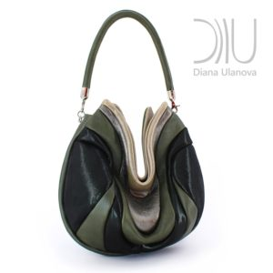 Shoulder Designer Bags. Prana Dark Green by Diana Ulanova. Buy on women-bags.com