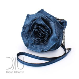 Micro Designer Bags. Rose Mini Blue Metallic by Diana Ulanova. Buy on women-bags.com