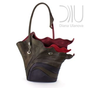 Womens Designer Hand Bags. Strelitzia Brown by Diana Ulanova. Buy on women-bags.com