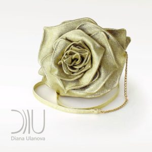 Designer Mini Bags Sale. Rose Mini Light Gold by Diana Ulanova. Buy on women-bags.com