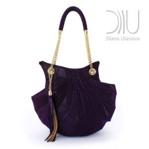 Women Designer Bag. Shell Purple by Diana Ulanova. Buy on women-bags.com