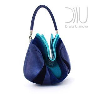 Designer Shoulder Bags. Prana Blue/Light Blue by Diana Ulanova. Buy on women-bags.com