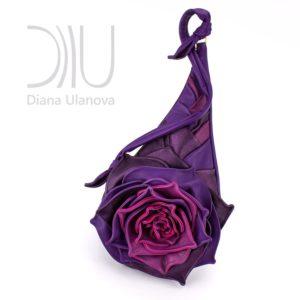 Shoulder Bags Designer. Rose Purple/Pink by Diana Ulanova. Buy on women-bags.com