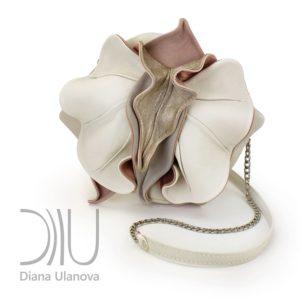 Designer Mini Bags. Orchid Mini White/Grey by Diana Ulanova. Buy on women-bags.com