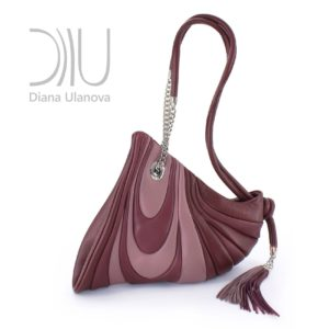 Shoulder Bags Designer. Mustang Burgundy by Diana Ulanova. Buy on women-bags.com