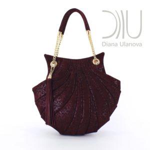 Lady Handbags Designers. Shell Burgundy 1 by Diana Ulanova. Buy on women-bags.com