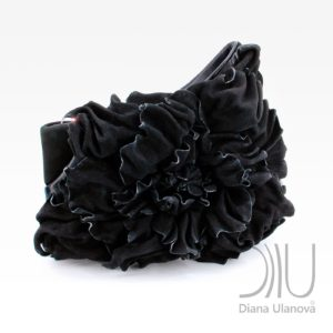 Designer Clutch Bags For Sale. Peony Clutch Black by Diana Ulanova. Buy on women-bags.com