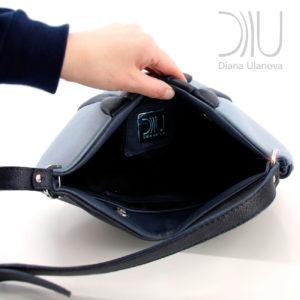 Shoulder Bag Designer. Twist Grey Open by Diana Ulanova. Buy on women-bags.com